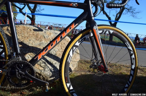 Despite being a disc model, it's lighter than Wyman's bike from last year. © Cyclocross Magazine