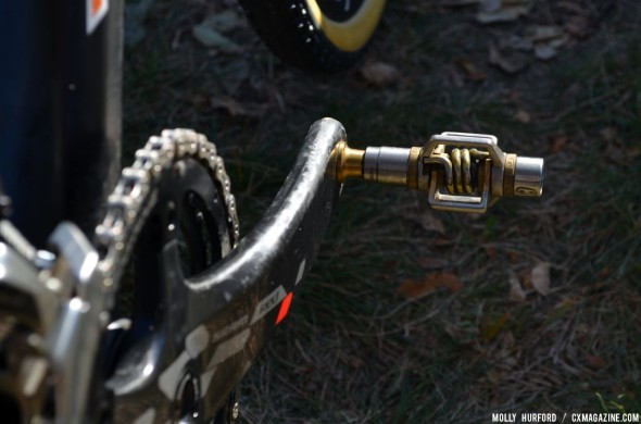 WYman elects to use Crankbrothers Eggbeaters. © Cyclocross Magazine