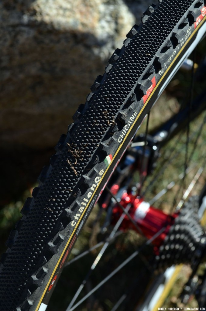 The tread is a combination of a file tread and a Grifo. © Cyclocross Magazine
