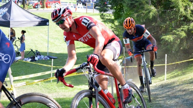 Wells on Day 1 at Nittany. © Cyclocross Magazine