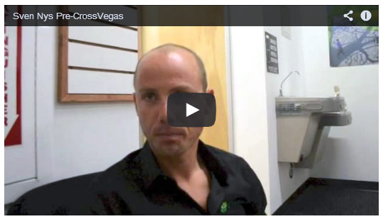 Sven Nys, Cyclocross World Champion, talks with Cyclocross Magazine in Las Vegas