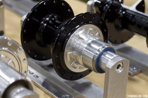 Paul Components also is now offering its hub and disc hub in an SRAM XX1 cassette-compatible freehub, Interbike 2013. © Cyclocross Magazine