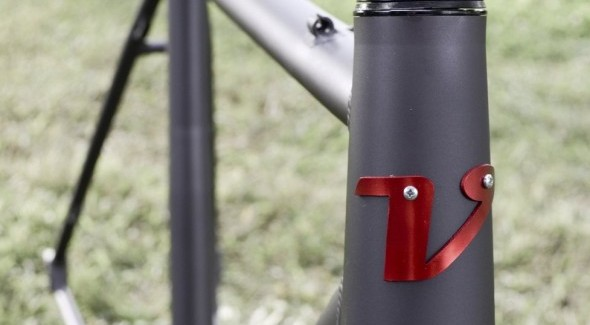 the 2014 Van Dessel Aloominator cyclocross frameset. © Cyclocross Magazine