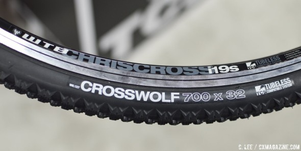 WTB CrossWolf TCS tubeless cyclocross tire and ChrisCross rim. © Clifford Lee / Cyclocross Magazine