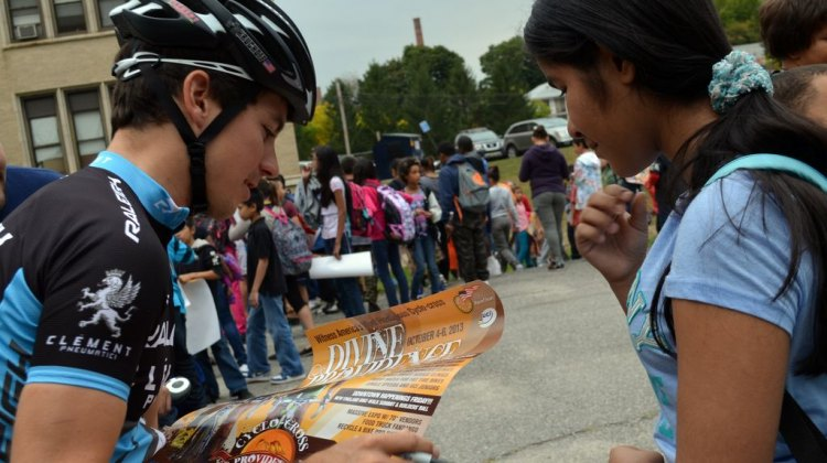 Allen Krughoff signs autographs. © Cyclocross Magazine