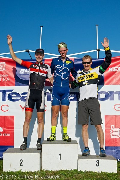 Knapp topping the men's podium. © Jeffrey B Jakucyk