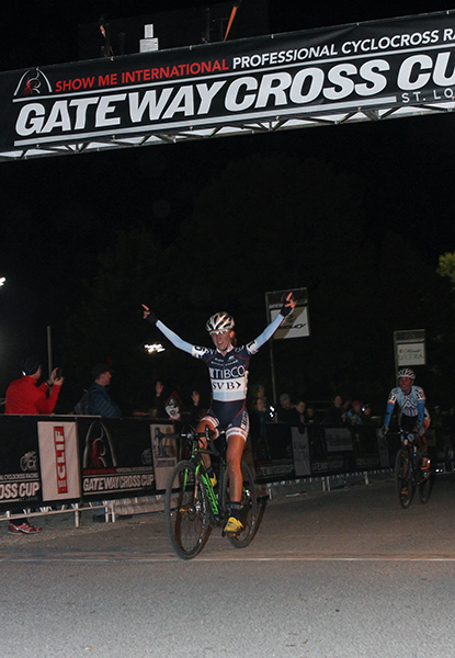 Miller takes the win on Day 1 of the Gateway Cross Cup. © Matt James