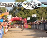 Powers coming in for the win at the Boulder Cup. © Jesse Pisel