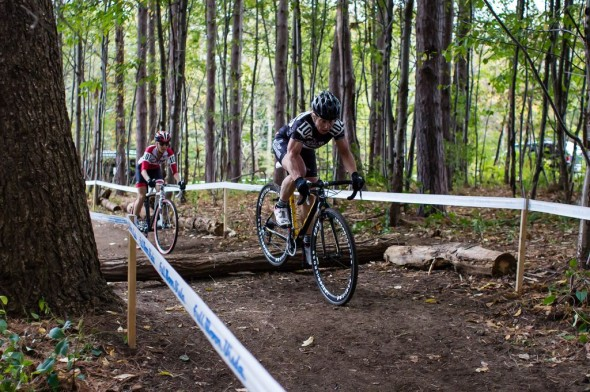 Bruno Roy and Van Gilder dueled all weekend and the woods were no exception on Sunday. © Brian Boucheron
