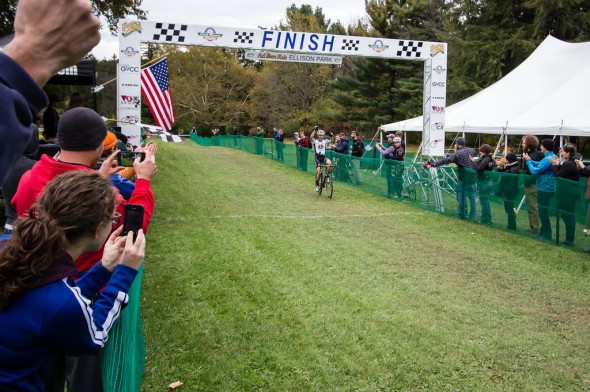 Gagne sweeps the weekend in Rochester at Full Moon Vista Ellison Park Cyclocross. © Brian Boucheron