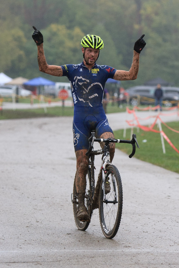 At St. Mary's, Ryan Knapp took the solo win for the second race of the OVCX Series. © Kent Baumgardt