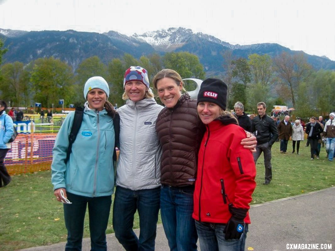Katerina Nash, Sue Butler, Katie Compton and Amy Dombroski were all in the mix in Switzerland. photo: Sue Butler