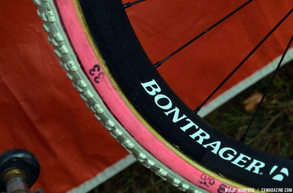 Compton's pink sidewalls aren't just for show. © Cyclocross Magazine