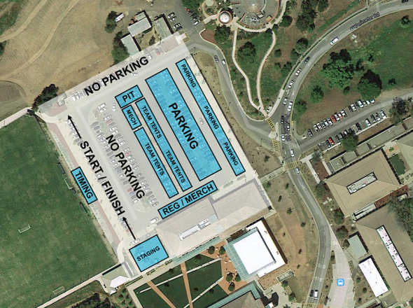 The layout of the Lion of Fairfax 2013 - Los Altos, Foothill College
