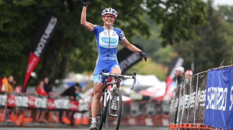 Nash doubled up at Providence Cyclocross Festival. © Meg McMahon