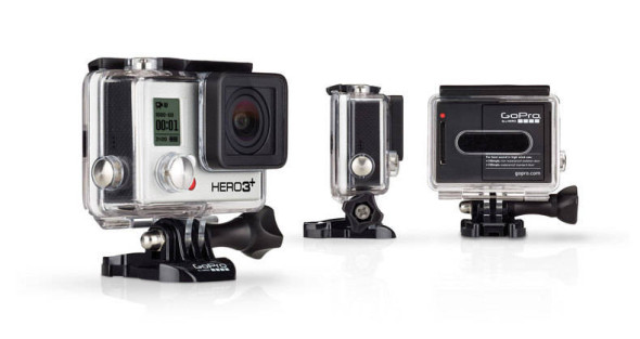 GoPro Hero 3+ camera launched. Lighter, smaller, faster, and longer battery life.