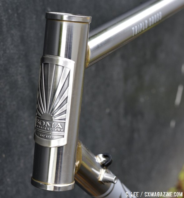 Soma Fabrications goes upscale with the stainless steel Triple Cross disc brake cyclocross bike. © Cyclocross Magazine