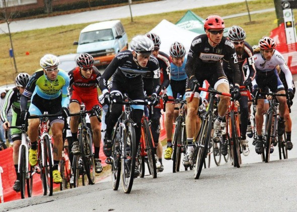 Elite Men take the course at a prior installment of Supercup. © Cyclocross Magazine