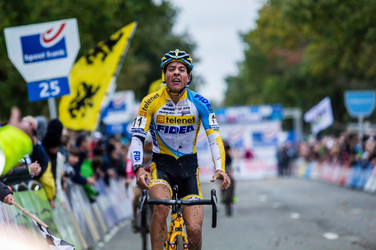 Meeusen takes the win at the 2013 Koppenbergcross. © Thomas van Bracht