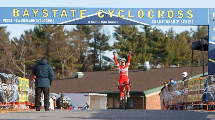 Elle Anderson taking the win at Baystate on Day 1. © Todd Prekaski