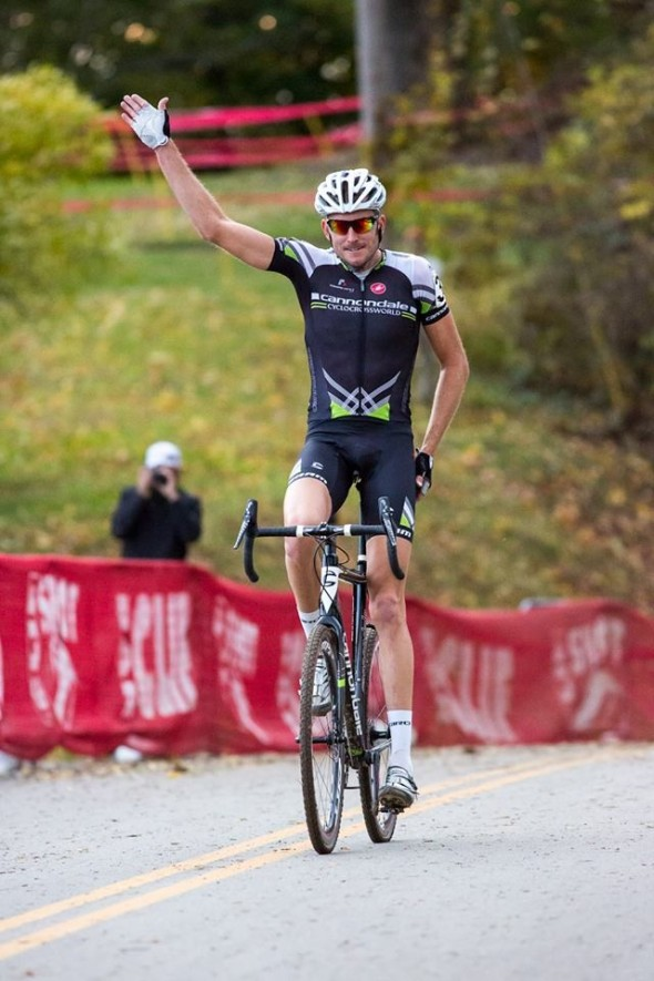 Trebon takes the first Elite Men's win of the weekend. © Kent Baumgardt