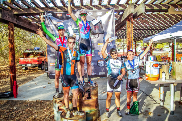 The Men's A podium. © Kenneth Hill