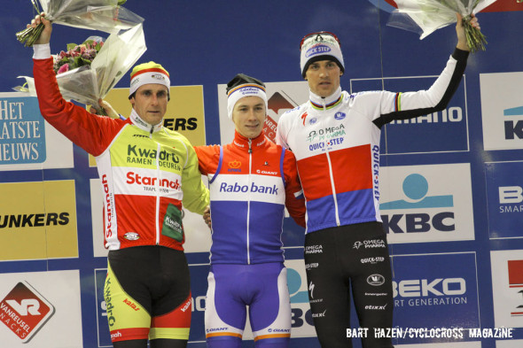 No Belgians in Zolder 2013: Bina, Van der Haar and Stybar © Cyclocross Magazine