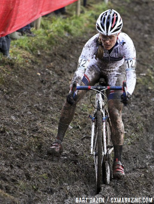 Compton was in command on the muddy, technical Namur World Cup course. © Cyclocross Magazine