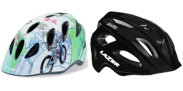 Giro Rascal and Lazer Nut'z kid's bike helmets.