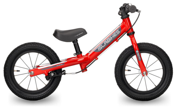 Islabikes' Rothan balance bike, with Presta Valves and a mini V-brake.