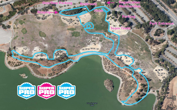 The tentative 2013 San Jose Supcat  course, with some Cyclocross Magazine inluence