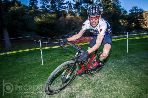 Hall of Famer and defending CX World Champ in the 55-59 bracket made things very interesting on Saturday. He did not race on Sunday at Santa 'Cross. © Philip Beckman/ PB Creative