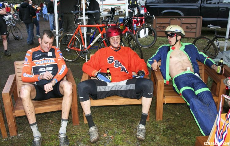 Trebon happy he does not have to wear a Speedo or tattoo. SSCXWC 2007. © Cyclocross Magazine
