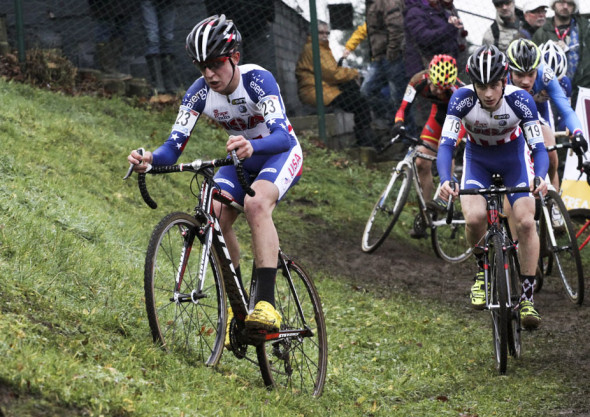 Garret Gerchar leads fellow American Cooper Willsey at the 2013