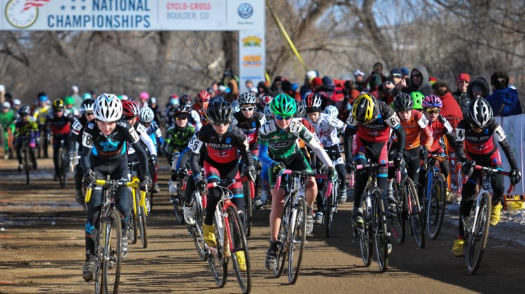 The start of the men's 11-12 race. © Steve Anderson