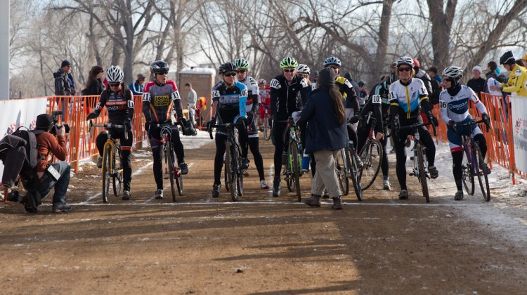 Master Women lining up for the start. ©Brian Nelson