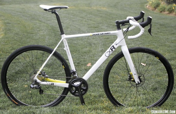 Boardman Bikes' CXR 9.4 carbon cyclocross bike with Shimano R785 Di2 / hydraulic disc brakes. © Cyclocross Magazine