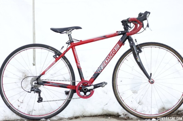 Paul Haley's Redline Conquest Team Scanduim cyclocross bike. © Cyclocross Magazine