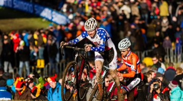 Logan Owen on the runup at U23 UCI Cyclocross World Championships 2014. © Thomas Van Bracht