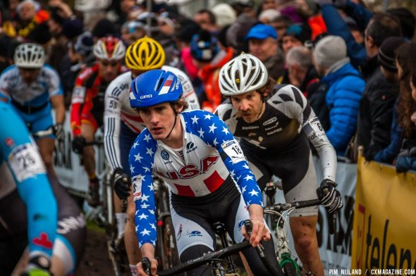 Zach McDonald in the  first lap at World Championships in Hoogerheide. © Pim Nijland / Peloton Photos