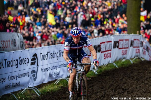 Mourey had a great start at the UCI World Championships of Cyclocross. © Thomas Van Bracht