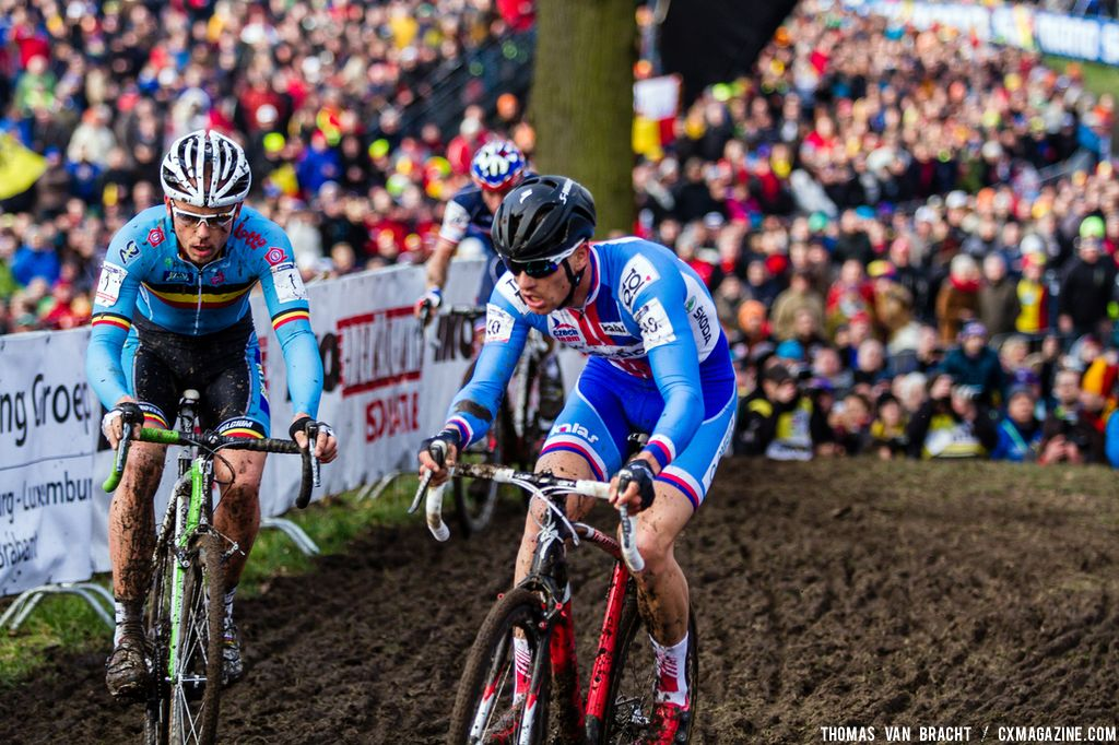 Two titans: Nys and Stybar at UCI World Championships of Cyclocross. © Thomas Van Bracht