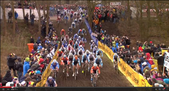 Screenshot: 2014 Elite Men's Cyclocross World Championship Video