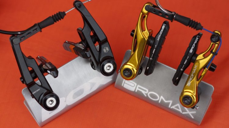 Box Components and Promax both offer mini V-brakes that work well on a cx bike, but some may want shorter pads for more fork leg clearance. © Cyclocross Magazine