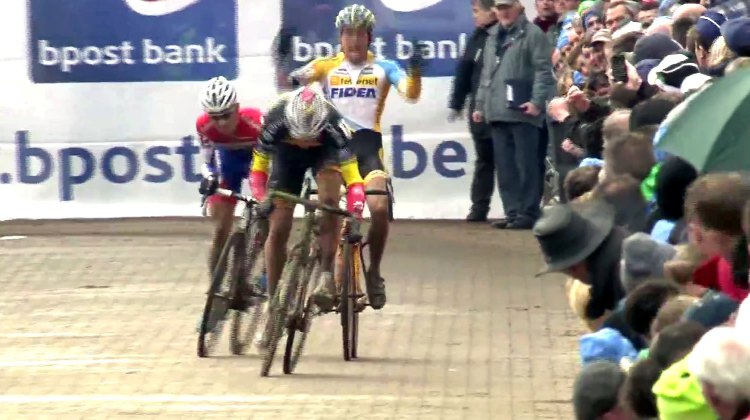 Sven Nys outsprints