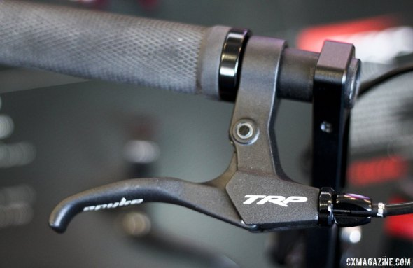 TRP Brakes has a new lever for its Fat Bike Spyke mechanical disc brake - Frost Bike 2014.  © Cyclocross Magazine