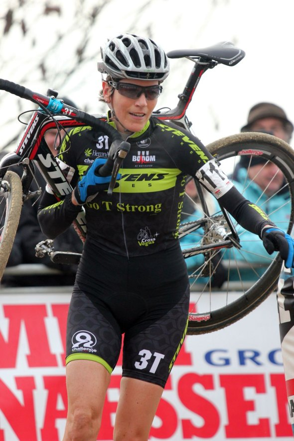 Christine Vardaros at Scheldecross 2013. © Marc van Est