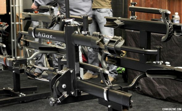 Kuat brings black and polished silver to their top-shelf NV rack for 2014. As seen at Frostbike. © Cyclocross Magazine