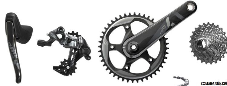 It's finally here: the SRAM Force CX1 single chainring cyclocross group. There's really only two specific items needed for the CX1 drivetrain - the chainring and the rear derailleur.