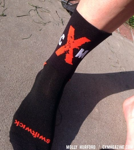 Swiftwick socks with CXM style. © Cyclocross Magazine
